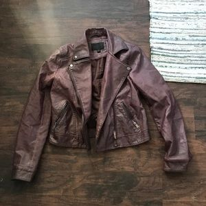 Blu pepper pleather jacket burgundy only wore once